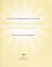 Cover of: Transformational Discipleship: Your Church Helping People Be Like Jesus (Jesus By Heart: God Can Transform You To Be Like Jesus) |