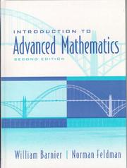 Cover of: Introduction to advanced mathematics