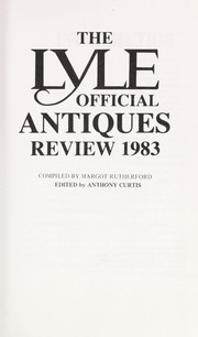 Cover of: Lyle Official Antiques Review, 1983 | Margot Rutherford