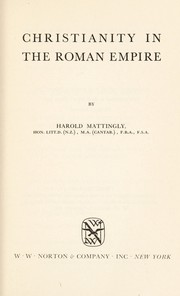 Cover of: Christianity in the Roman Empire
