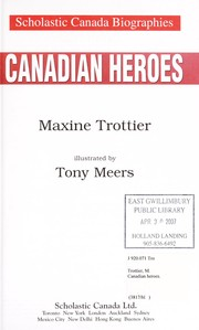 Cover of: Canadian heroes