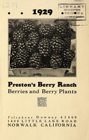 Cover of: Berries and berry plants, 1929 | Preston