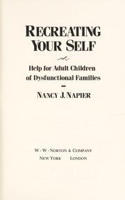 Cover of: Recreating your self | Nancy J. Napier