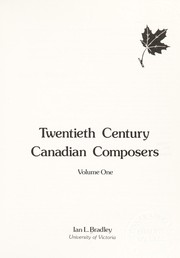Cover of: Twentieth century Canadian composers