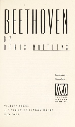 Beethoven by Denis Matthews