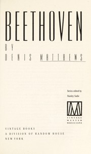 Cover of: Beethoven | Denis Matthews