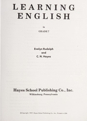 Learning English in grade 7 by Evelyn Rudolph