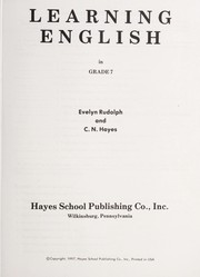 Cover of: Learning English in grade 7 | Evelyn Rudolph