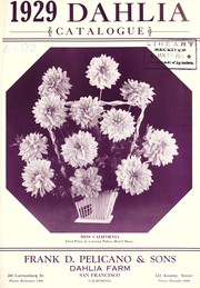 Cover of: 1929 dahlia catalogue | Frank D. Pelicano & Sons