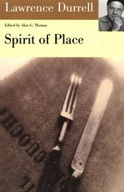 Cover of: Spirit of Place: Letters and Essays on Travel