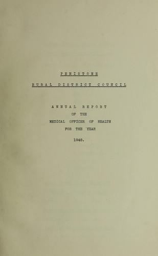 [Report 1948] by Penistone (England). Rural District Council
