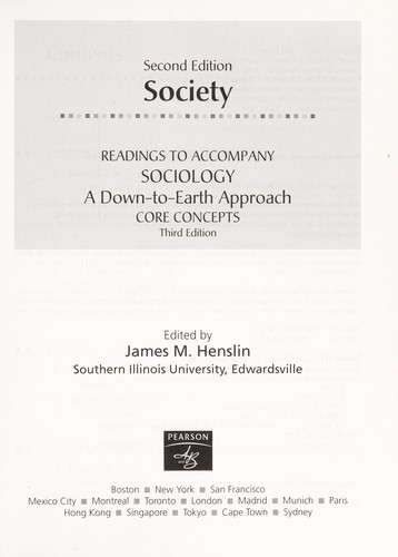 Society: Readings to Accompany Sociology by James M. Henslin