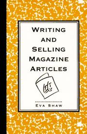 Cover of: Writing and selling magazine articles | Eva Shaw