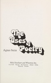 Cover of: The uses of poetry