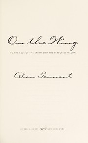 Cover of: On the wing | Tennant, Alan