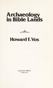Cover of: Archaeology in Bible lands