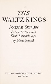 Cover of: The waltz kings | Hans Fantel