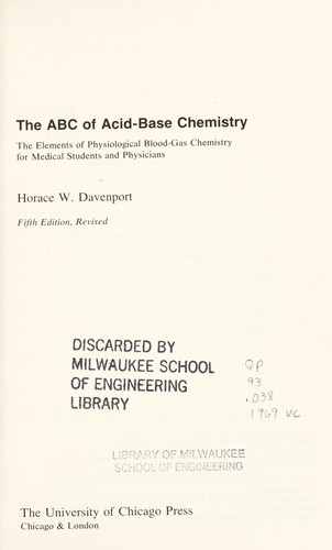 The ABC of acid-base chemistry by Horace Willard Davenport