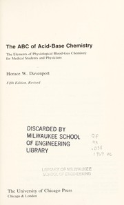 Cover of: The ABC of acid-base chemistry | Horace Willard Davenport