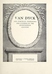Cover of: Van Dyck, and portrait engraving and etching in the seventeenth century