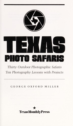 Texas photo safaris by George Oxford Miller