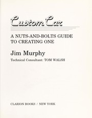 Cover of: Custom car | Murphy, Jim