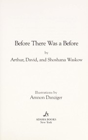 Cover of: Before there was a before