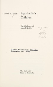Cover of: Appalachia's children | David H. Looff