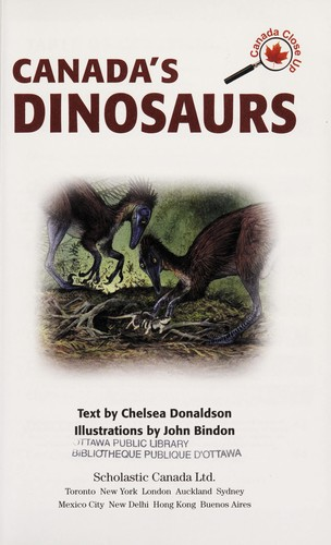 Canada's dinosaurs by Chelsea Donaldson