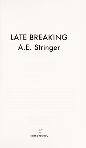 Late breaking by A. E. Stringer