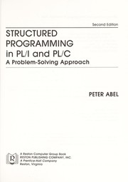 Cover of: Structured programming in PL/I and PL/C | Abel, Peter