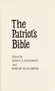 Cover of: The Patriot's Bible | edited by John Eagleson and Philip Scharper.
