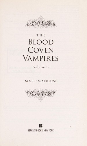 The Blood Coven Vampires by Marianne Mancusi