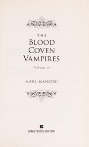 Cover of: The Blood Coven Vampires | Marianne Mancusi