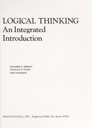 Logical thinking by Wright, Richard A.