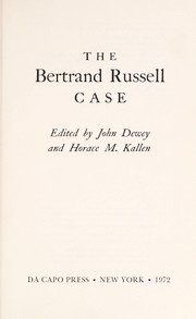 Cover of: The Bertrand Russell case