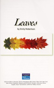 Cover of: Leaves | Emily Robertson