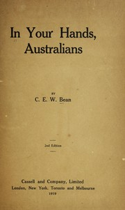 Cover of: In your hands, Australians
