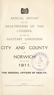 Cover of: [Report 1911] | Norwich (England). City & County Council
