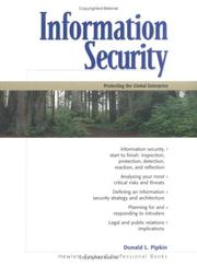 Cover of: Information Security | Donald L. Pipkin