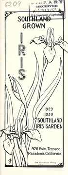 Cover of: Southland grown iris | Southland Iris Garden
