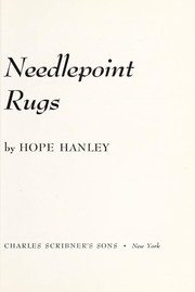 Cover of: Needlepoint rugs. | Hope Hanley