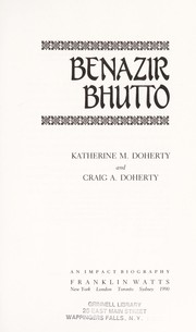 Cover of: Benazir Bhutto