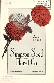 Cover of: Simpson Seed & Floral Co | Simpson Seed & Floral Co