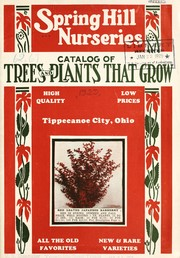 Cover of: Catalog of trees and plants that grow | Spring Hill Nurseries
