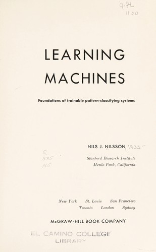 Learning machines by Nilsson, Nils J.