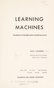 Cover of: Learning machines | Nilsson, Nils J.