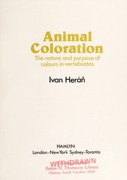 Cover of: Animal coloration