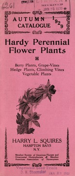 Cover of: Hardy perennial flower plants, berry plants, grape-vines, hedge plants, climbing vines, vegetable plants | Harry L. Squires (Firm)