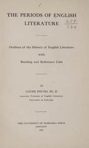 Cover of: The periods of English literature